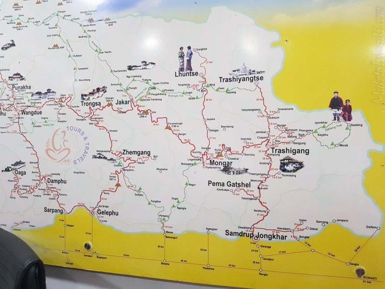 ブータン地図