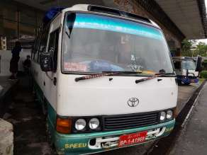 Thimphu 行きのバス