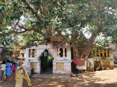ビーチ近くの集落の小寺。右に狂人あり。