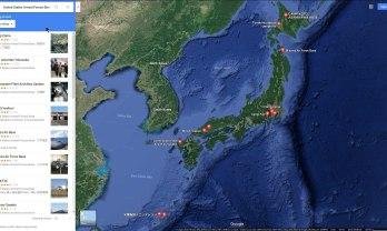 日本國内のアメリカ軍基地の配置図