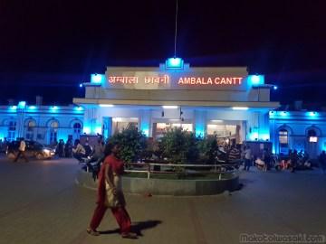 Ambala 駅でまた乗り換え