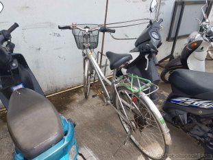 バス通りまで自転車