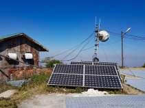 太陽発電でジェネレーターの騒音は止まっていた。