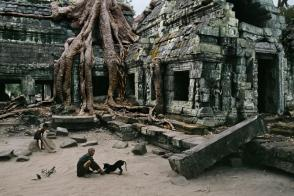 Steve McCurry,CAMBODIA. Angkor. 1999. Caretaker of Ta Prohm Wat, a 2.5-acre temple housed within a walled, 12th-century 148-acre complex.