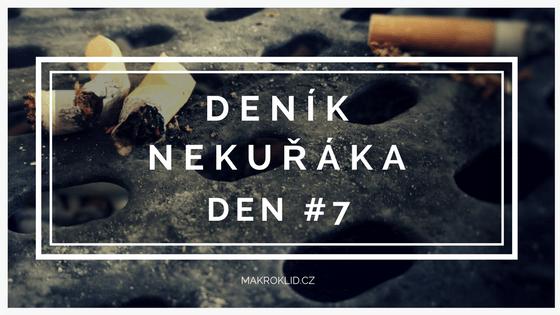 deník nekuřáka - sedmý den