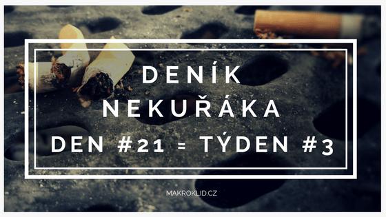 deník nekuřáka - třetí týden