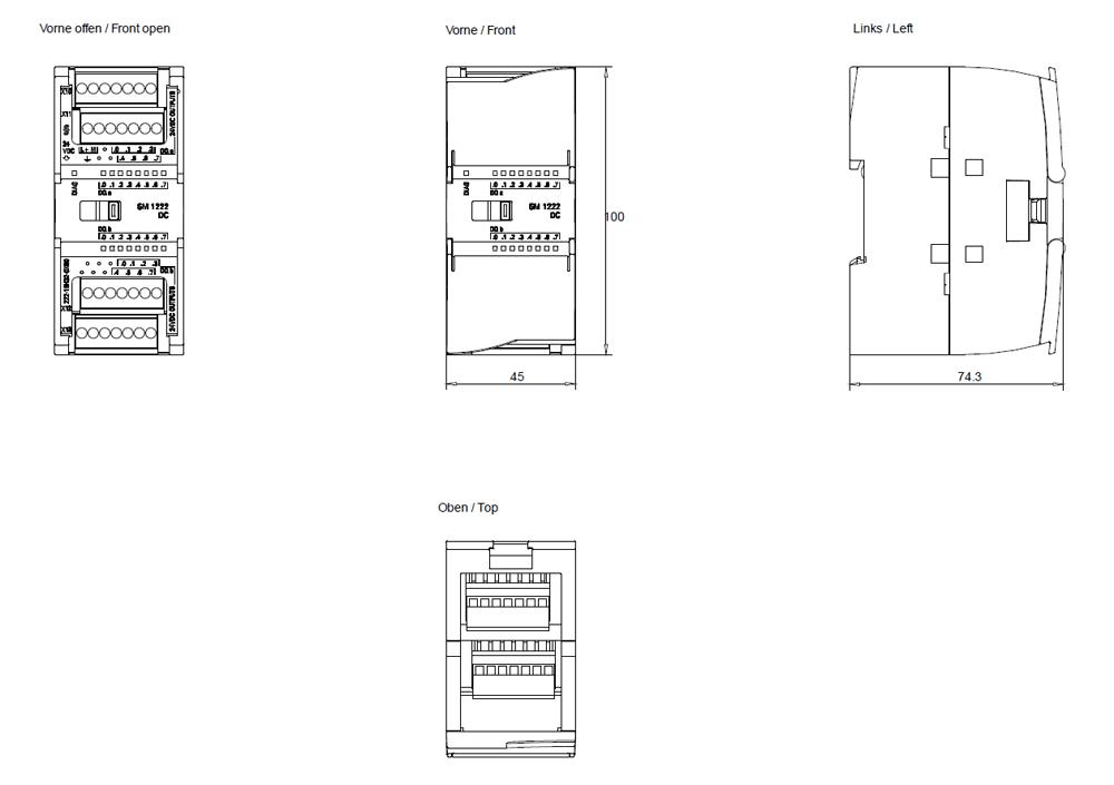 Siemens S7 1200 Connection Diagram