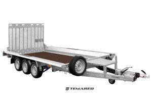 Maskin trailer Model D 3500 kg 3 aksler Temared