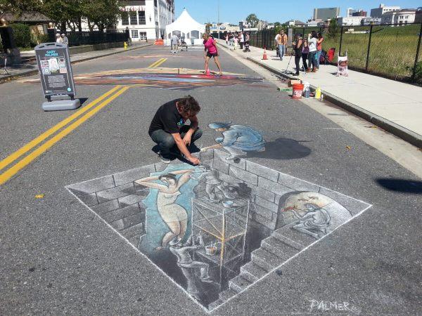 3d Art Chalk Festival In Atlantic City Street Painting Alex Maksiov