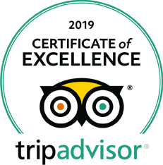 Certificate of Excellence 2019 by TripAdvisor