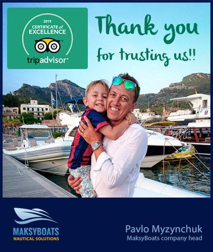 Certificado de Excelencia 2019 de TripAdvisor, Pavlo Myzynchuk