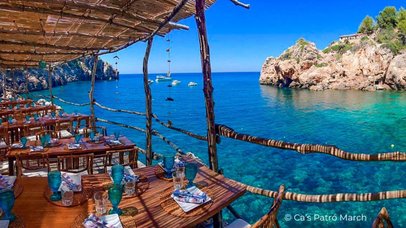 Ca's Patró March Restaurant in Cala Deià, Mallorca