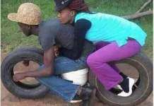 Man takes his girlfriend for a ride on his BIKE - MUST SEE PHOTO