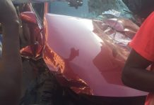 MORE PICTURES OF STUNNER'S ACCIDENT IN HARARE WITH HIS NEW LEXUS