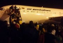 warriors chased out of AirZim Plane