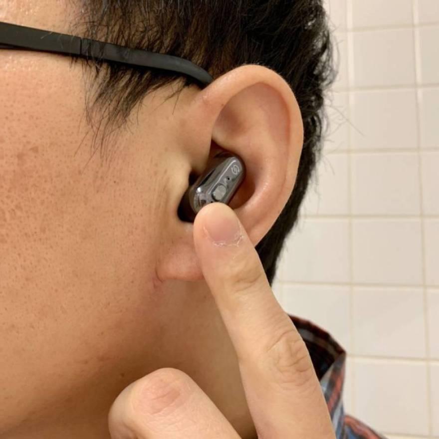 SoundPEATS Truengine Q42はボタン式