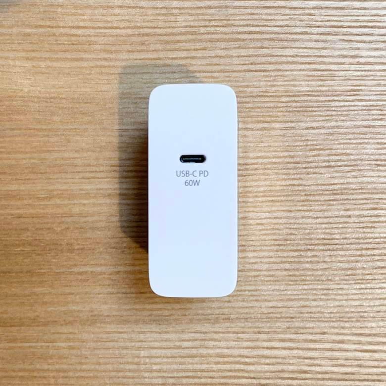cheero USB-C PD Charger 60WはPD対応USB-Cが付いている
