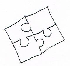 Gruppenpuzzeln ist ein lustiges Bewegungsspiel für Senioren.