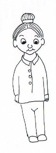 Frau Kinderviel mit Dutt.