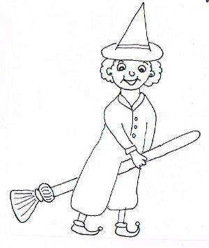 Ein alte Frau lernt hexen.