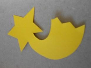 Eine Sternschnuppe aus Tonpapier