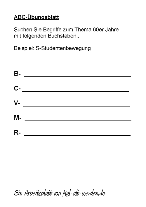 abc-arbeitsblatt-60er jahre