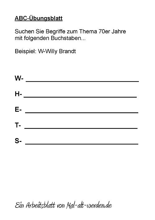 abc-arbeitsblatt-70er jahre