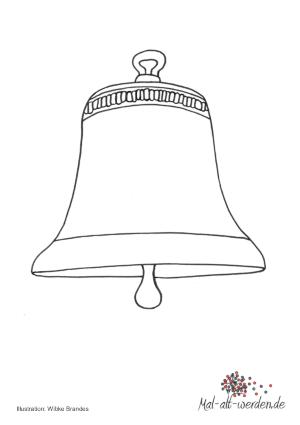 Eine Glocke zum Ausmalen