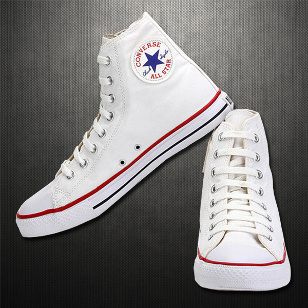 Converse Mens Chuck Taylor All Star White Convas Hitop Sneaker Shoes Malaabes Online Shopping