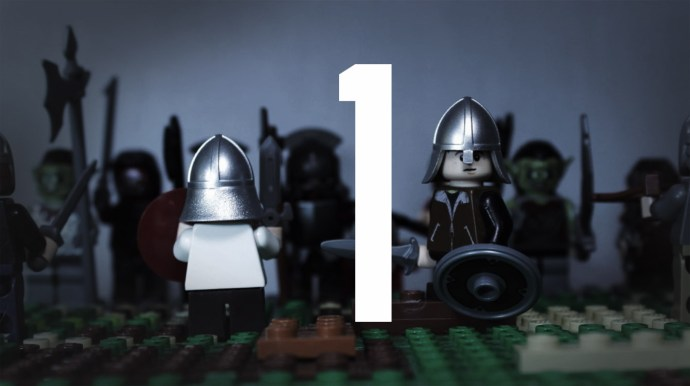 picture of a medieval lego men