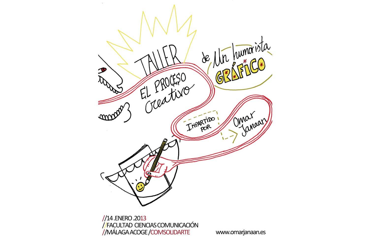 El ilustrador Omar Janaan impartirá un taller sobre el proceso de creación del humor gráfico aplicado al tercer sector