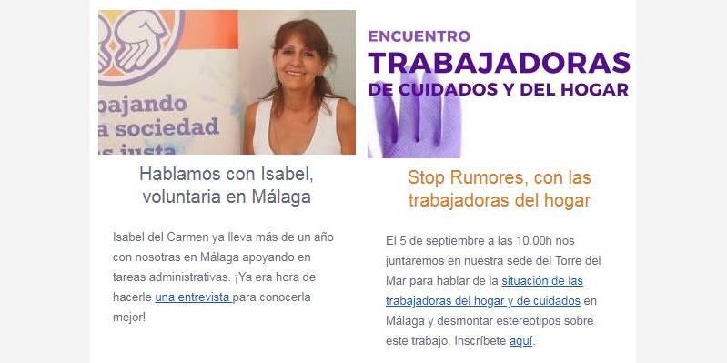 ¡Todas las noticias de agosto en Málaga Acoge!