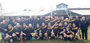 Victorious Squad with Director of Rugby - Alun Brophy