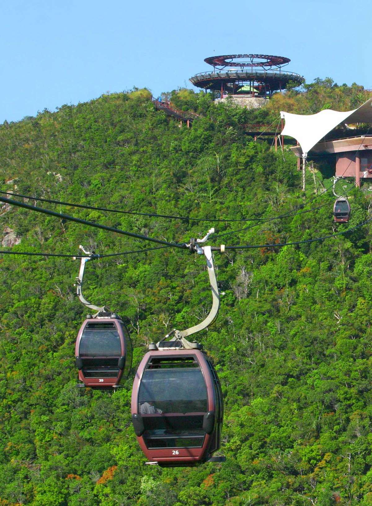 Langkawi cable car cab