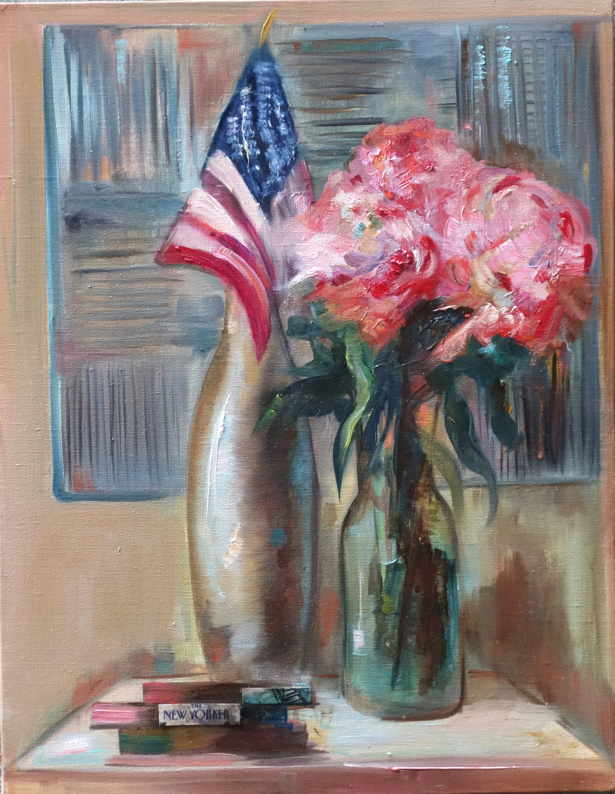 """With American accent"". Oil on canvas 40-45."