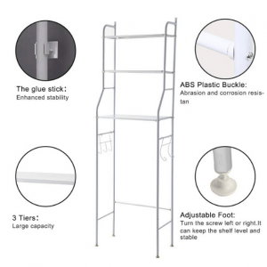 3 layers metal shelf storage rack over washing machine
