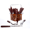 Stainless Steel Coated Handle Cutlery Set(24pcs)
