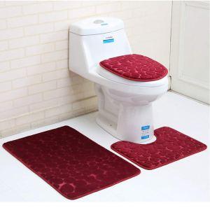 3 Pc Bathroom Mat