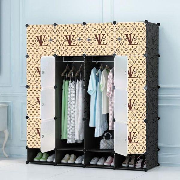 4 column plastic wardrobe