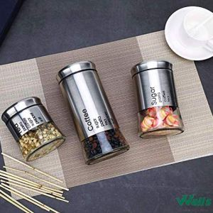Sugar, Tea, and Coffee Canister Set