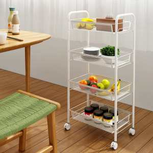 4 Tire Kitchen Trolly With Wheels