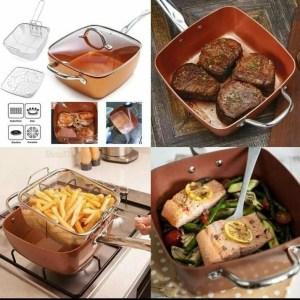 Multipurpose Copper Deep Frying Pan