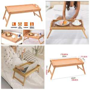 Bamboo Foldable / Breakfast/Bed/Reading /Serving Tray/Stand