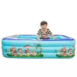 Inflatable swimming pool with electric pump