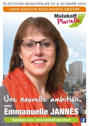 Affiche Malakoff Plurielle avec Emmanuelle Jannès