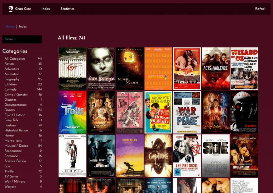 Gran Cine. Mi aplicación cinematrográfica