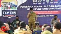 Foto : Bupati Malang bersama forkopimda kunjungi kampung. Tangguh kuwolu