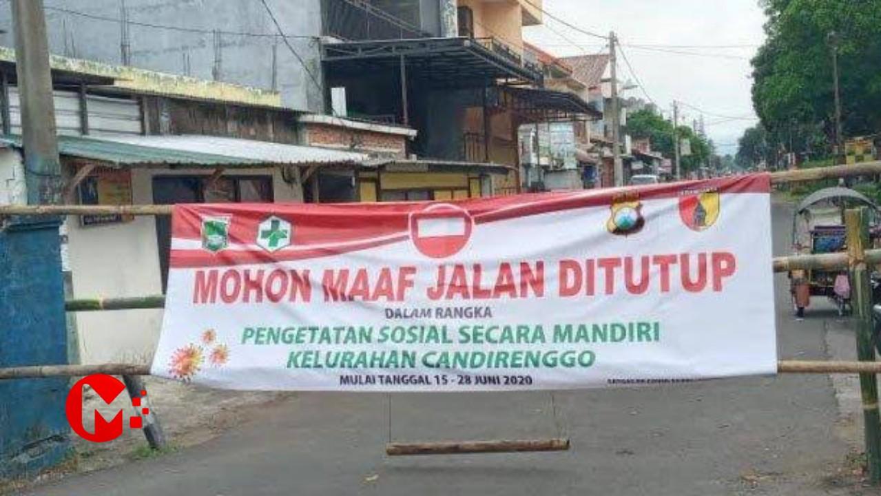 Foto : Kecamatan Singosari terapkan pengetatan sosial Mandiri