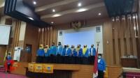 Foto : Prosesi pelantikan PC PMII Kab Malang di gedung DPRD Kab Malang