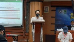 Foto : Agus Sa'dulloh berikan sambutan setelah terpilih sebagai ketua PSSI Kab Malang